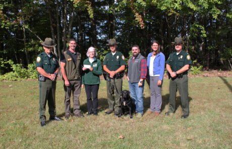 CANINE DONATION FROM NH CHAPTER OF NWTF