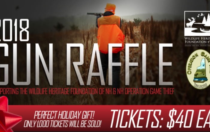 Gun Raffle to Support Wildlife Heritage Foundation of NH and Operation Game Thief